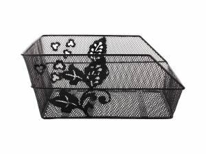Basil panier arrière Cento flower noir