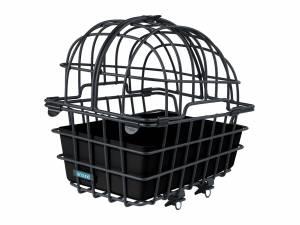 AROUND panier arrière pour animaux LUNA XL, avec dôme et système de fixation pour porte-bagages, noir mat