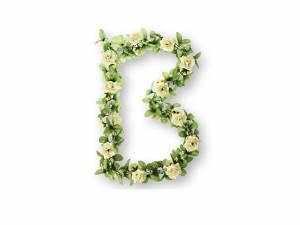 Basil guirlande de roses blanc