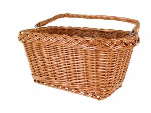 AROUND panier avant Willow Rect Basic en osier, naturel