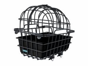 AROUND panier arrière pour animaux LUNA, avec dôme et système de fixation pour porte-bagages, noir mat